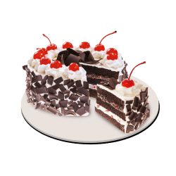 black forest cake by red ribbon send to angeles city