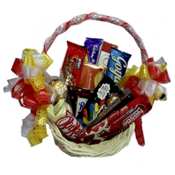 assorted chocolate lover basket send to angeles city