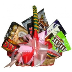 assorted chocolate lover basket delivery in angeles city
