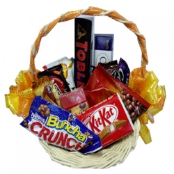 assorted chocolate lover basket online to angeles city