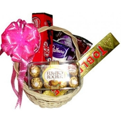assorted chocolate lover basket order to angeles city