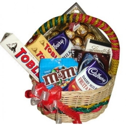 assorted chocolate lover basket express to angeles city