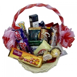 assorted chocolate lover basket same day in angeles city