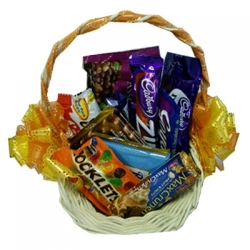 send assorted chocolate lover basket to angeles city