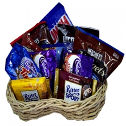 online assorted chocolate lover basket to angeles city