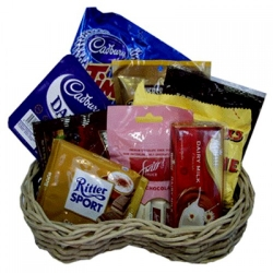 order assorted chocolate lover basket to angeles city