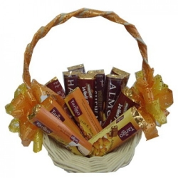 same day assorted chocolate lover basket to angeles city