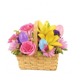 Easter Egg Floral Basket to Angeles City