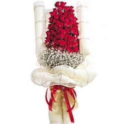 48 Red Roses In Bouquet Send To Angeles City Philippines