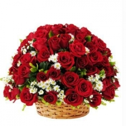 red rose basket to philippines