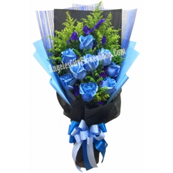 ​12 Blue Roses Bouquet in Angeles City