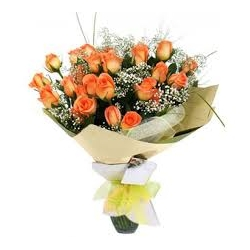 ​12 Orange Roses in Bouquet send to angeles city philippines