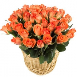 ​36 Orange Roses in a Basket send to angeles city philippines