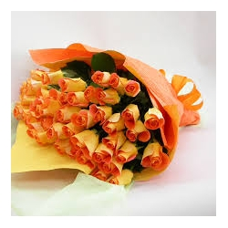 24 Orange Roses in a Bouquet send to angeles city philippines