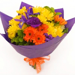 12 Yellow and Orange Gerberas Send To Angeles City Philippines