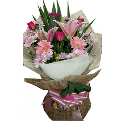 Mixed Flower Bouquet Send To Angeles City Philippines