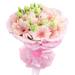 ​12 pink gerberas in a beautiful bouquet  send to angeles city philippines