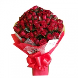 ​60 Red Roses in Bouquet Send To Angeles City Philippines
