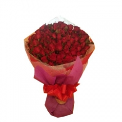 60 Red Roses in Bouquet Send To Angeles City Philippines
