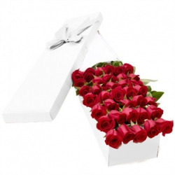 ​36 Red Roses in a Box Send To Angeles City Philippines