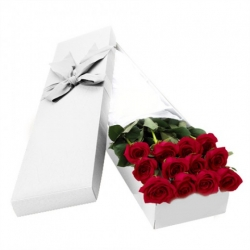 ​12 Red Roses in a Box Send To Angeles City Philippines