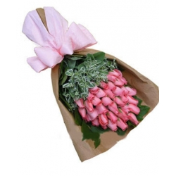 36 Pink Roses in Bouquet Send To Angeles City Philippines