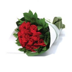 ​12 Red Roses in Bouquet Send To Angeles City Philippines