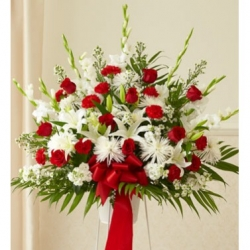 Red and White Perfection Basket