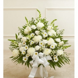 Deepest Condolences All White Flowers