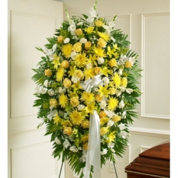 Funeral Yellow Standing Spray