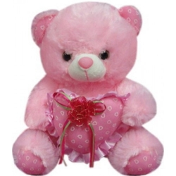 Bear with Red Ribbon send to angeles city philippines