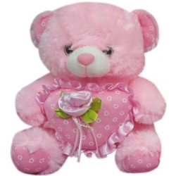 Bear with Rose send to angeles city philippines