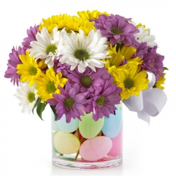 Easter Egg Daisy Bouquet to Angeles City