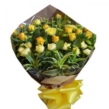 24 Yellow and Orange Roses Bouquet Send To Angeles City Philippines
