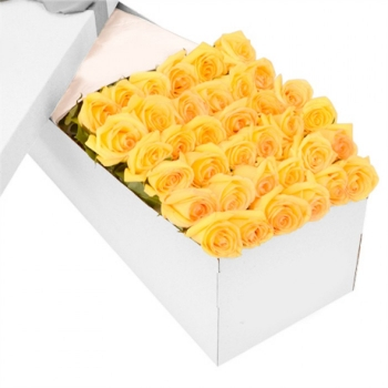36 Yellow Roses in a Box Send To Angeles City Philippines