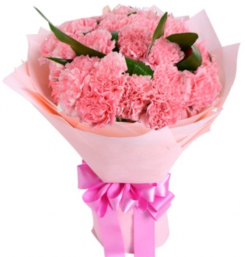 24 pink carnations bouquet to angeles city