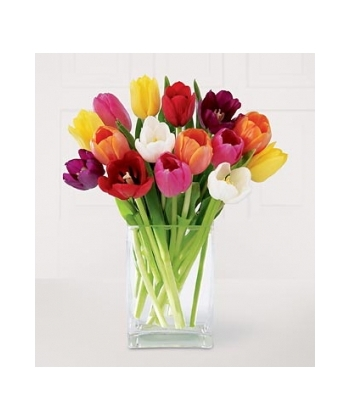 Send 12 Assorted Tulips With Free Vase To Angeles City In Philippines