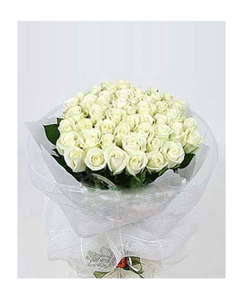 ​36 White Roses in Bouquet Send To Angeles City Philippines