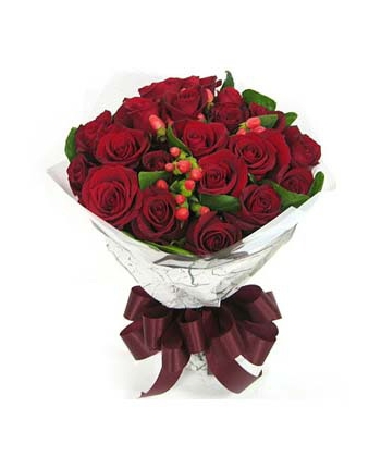 ​24 Red Roses in Bouquet Send To Angeles City Philippines