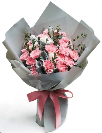 ​12 pink carnations bouquet send to angeles city