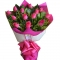 12 Pink Roses in Bouquet Send To Angeles City Philippines