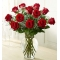 ​12 Red Roses in Vase Send To Angeles City Philippines