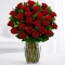 24 Red Roses in Vase Send To Angeles City Philippines
