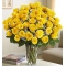 ​48 Yellow Roses In Vase Send To Angeles City Philippines